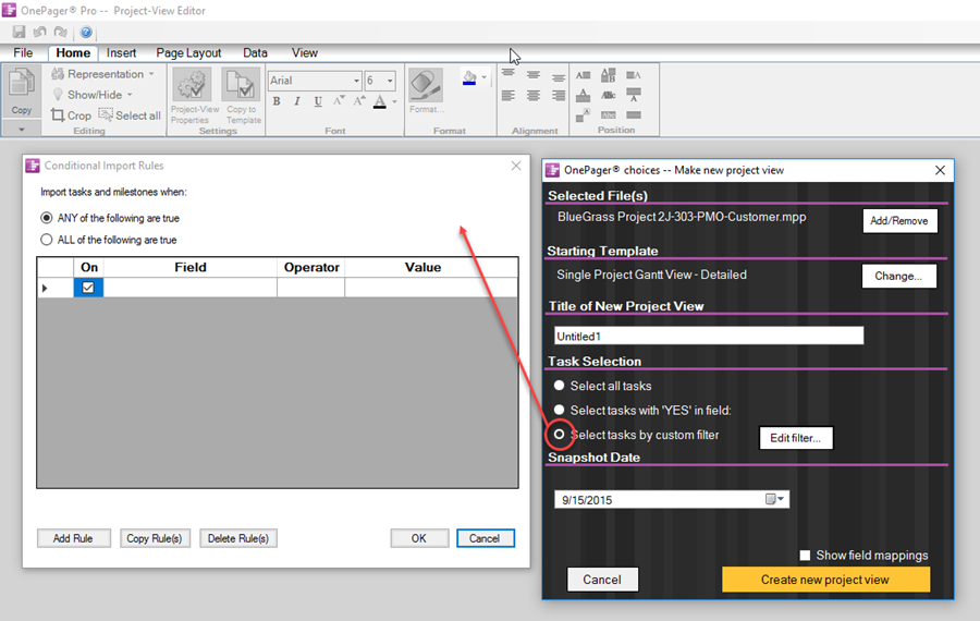 Copy Of P60 >> Conditional Import For Onepager Pro Desktop For Version 6 0