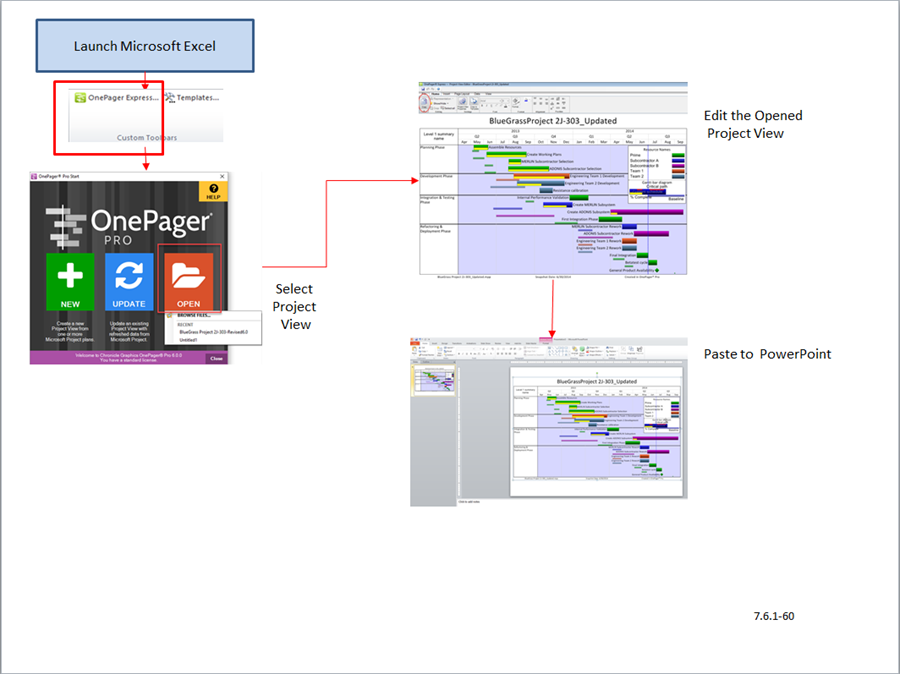Opening an EXISTING Project View - OnePager Express Add-in